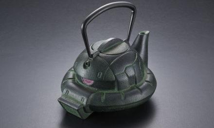 "PREMIUM BANDAI to Release Handcrafted ""Nanbu Tekki ZAKU GREEN"" Japanese Teapot"
