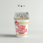 Nissin Cup Noodle Lids Now Sport Two Tabs and Look Like Cats!