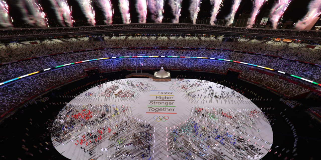 Opening Ceremony of the Olympic Games Tokyo 2020 Plays Selection of Memorable Game Themes