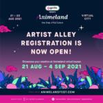 Animeland Festival 2021 Artist Alley Registrations Now Open!